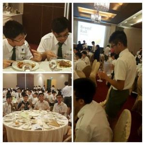 Students attending the Dining Etiquette workshop
