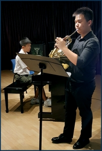 Above: MEP students performing at our in-house recital